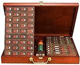 El más nuevo Juego de juegos de azulejos de Mahjong China Juego de juegos de mesa Mah Jong Juego Chino Tradicional Mahjong Juegos Cuernos Resina Aluminio Box Entertainment Favorito Mejor Amante de reg
