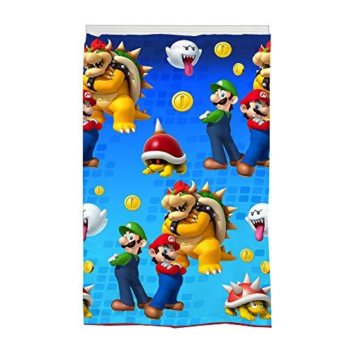 Nintendo Super Mario -Panel de Cortina para oscurecer habitación de Super Mario desafiante en 106x160cm