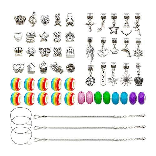 Colcolo Kit de Fabricación de Pulseras de Bricolaje, Encantos, Collar, Suministros para Hacer Joyas, Cuentas, Kits de Fabricación de Joyas para Manualidades P