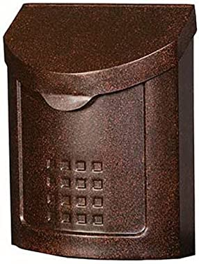 Gibraltar Mailboxes Lockhart Locking, Medium Capacity Galvanized Steel Aged Copper, Wall-Mount Mailbox, MBK694AC