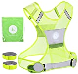 Reflective Vest for Running or Cycling | Yellow...