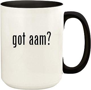got aam? - 15oz Ceramic Colored Handle and Inside Coffee Mug Cup, Black