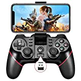 Vbepos Mobile Game Controller 2.4G Wireless Gamepad Bluetooth Gaming Joystick Compatible for iPhone iOS/ Android Phone/ PC Windows/ Smart TV/ TV Box/ PS3