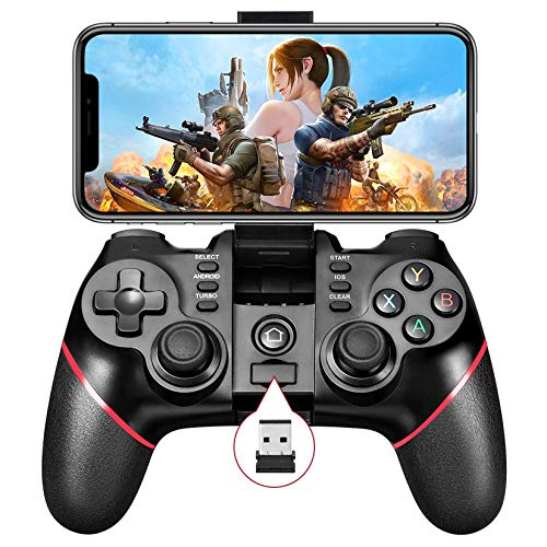 Mobile Game Controller, Bluetooth & 2.4G Wireless Gamepad Gaming Joystick for Android Phone/ PC Windows/ Smart TV/ TV Box/ PS3