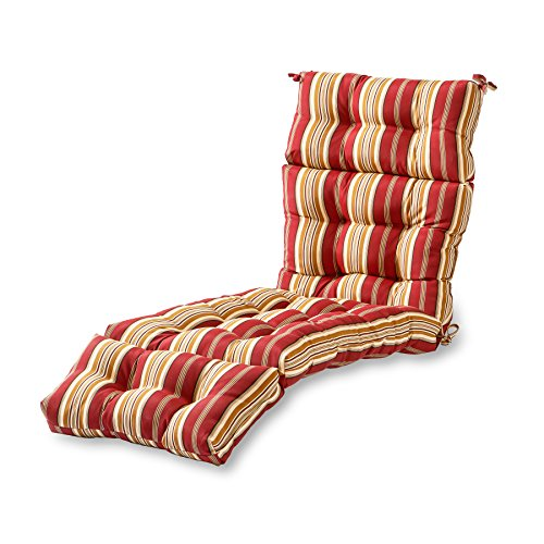 outdoor furniture cushions walmarts Greendale Home Fashions AZ4804-ROMASTRIPE Tuscan Stripe 72 x 22-inch Outdoor Chaise Lounge Cushion, 1 Count (Pack of 1)