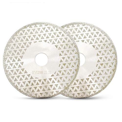 NIANZAI Hongfubang - Disco de molienda de corte de diamante eléctrico chapado en oro 22,23 de diámetro 125 mm para azulejos de cerámica de granito mármol