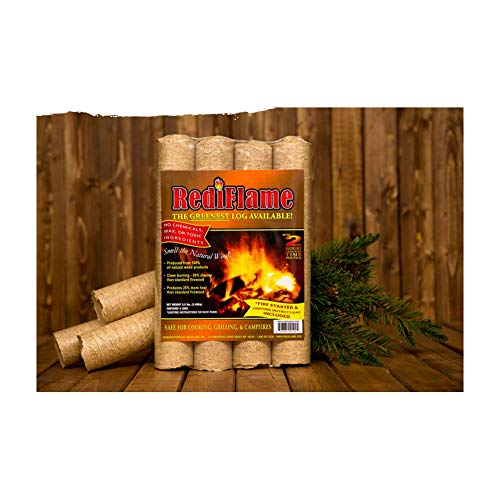 Purchase Rediflame 00101 12 Pack 100% All Natural Fire Log Up To 6 Hours Burn Time
