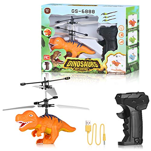 Volbaby Flying Ball Toys for Kids Helicopter Toy Remote Control RC Hands Free Operated Airplane Rechargeable Light Up Infrared Induction Dinosaur Toys for Kids Indoor and Outdoor