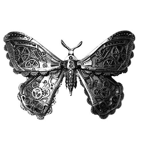 Restyle Mechanical Moth Motte Schmetterling Steampunk Haarspange - Silber