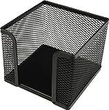 Helit H2518495 - Zettelbox'the cube network', schwarz