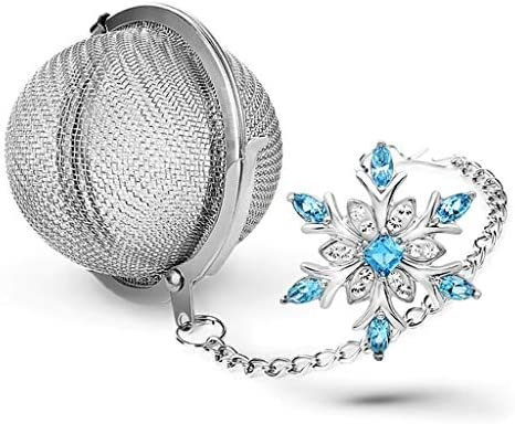 Taygate Snowflake Pendant Tea Infuser Tea Strainers for Loose Tea Fine Mesh Frozen Silver Plated product image