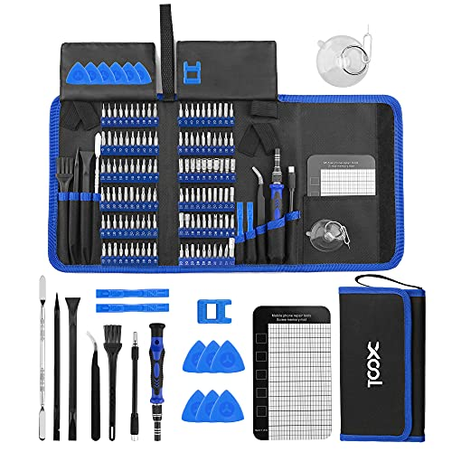 XOOL 140 in 1 Precision Screwdriver Set with 120 Bits Magnetic Driver Kit Professional Electronics Repair Tool Kit for Repair Computer, PC, MacBook, Laptop, Tablet, iPhone, Xbox, Game Console