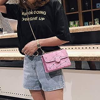 Fashion Single-Shoulder Bags Leisure Fashion PU Leather Slant Shoulder Bag Handbag(Black) (Color : Pink)