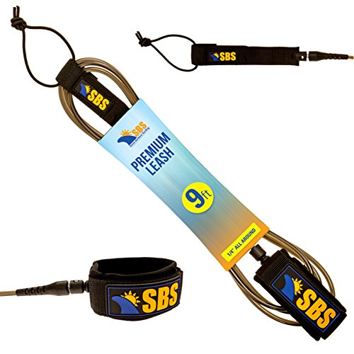 Santa Barbara Surfing SBS 9ft Surf Leash for Longboard & Paddleboard