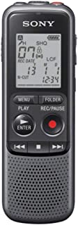 SONY索尼专业数码录音笔高清超远距录音?ICD-PX240?4G 黑色 智能降噪可监听 支持音频