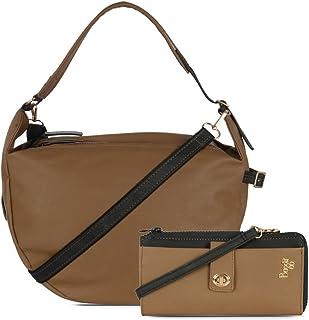 Baggit Women's Handbag With Wallet (Yellow)