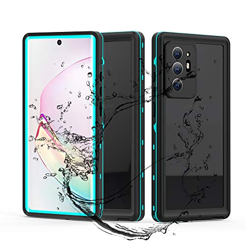 Anbitcase for Note 20 Waterproof Case, with Built-in Screen Protector Clear Sound Quality IP68 Waterproof Case for Samsung Galaxy Note 20 6.7 inch (Teal/Clear)