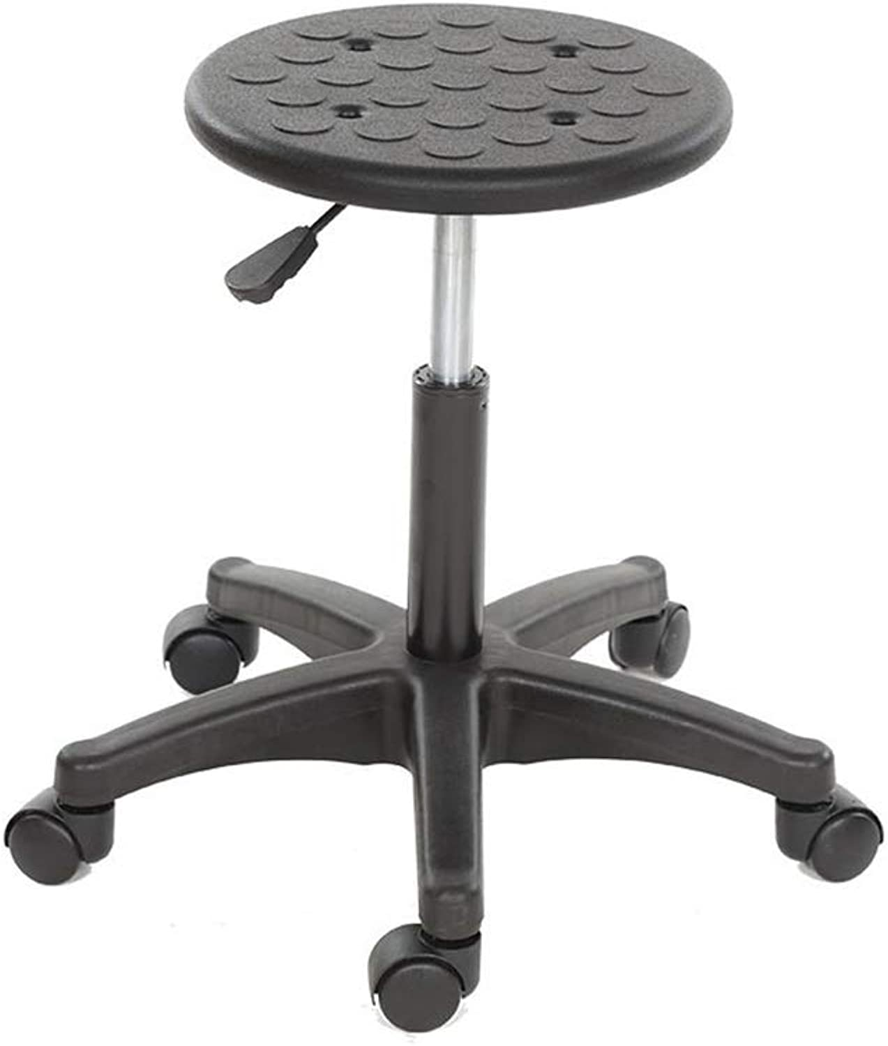 Laboratory Stool, Black Plastic Anti-Static Round Stool Household Stool Office Stool Hospital Stool Reception Chair (color   C)