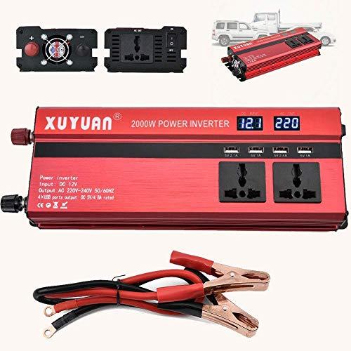 ZHCJH 1000W Power Inverter Car DC 12V/24V to AC 220V Modified Sine Wave Converter with 4 USB Outputs 5V Battery Charger...