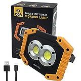 Portatile Lampada da Lavoro 20W, 6400mAh con Batteria Ricaricabile Integrata Lampade di is...
