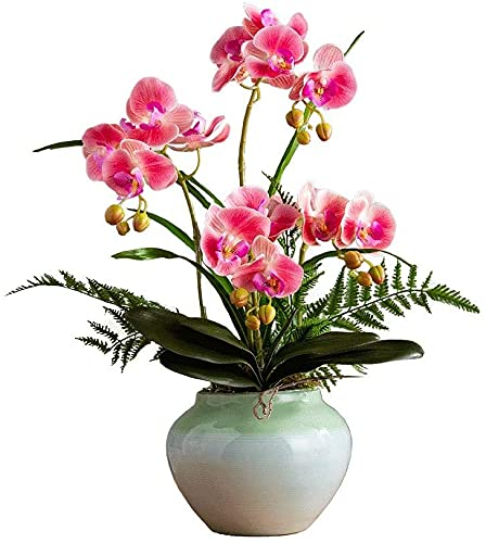 XinQing Nuevo Chino Phalaenopsis simulación Flor Bonsai Sala de Estar TV gabinete Mesa de Comedor Ajuste