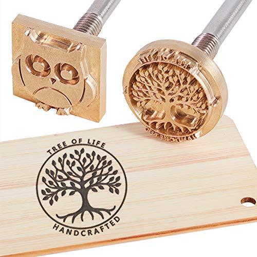 OLYCRAFT Custom Wood Branding Eisen 1.2 Leder Branding Eisenstempel Custom Logo BBQ Heat Stamp Mit Messingkopf Und Holzgriff Für Holzbearbeitung Und Handgefertigtes Design