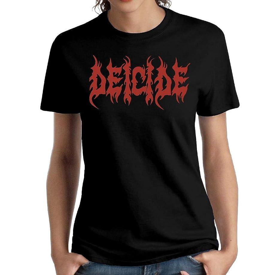 JeffryG Women's Deicide Short Sleeve T Shirt Black