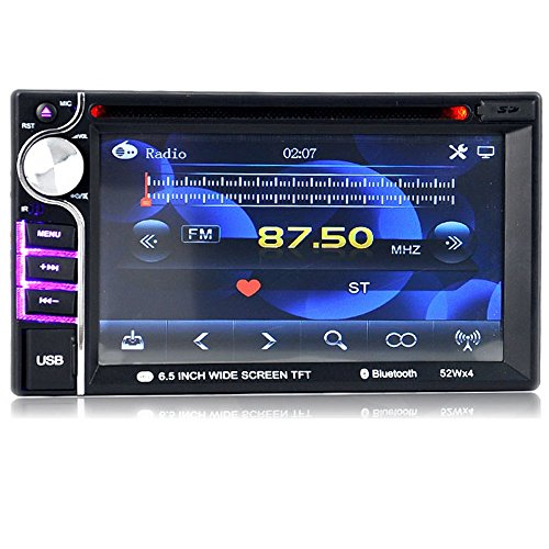 PolarLander 2 Din Dash 6.5 Pouces Universal Car Stereo Radio Audio DVD/USB/SD Lecteur multimédia HD Bluetooth Radio écran Tactile de Sauvegarde caméra de recul Moniteur