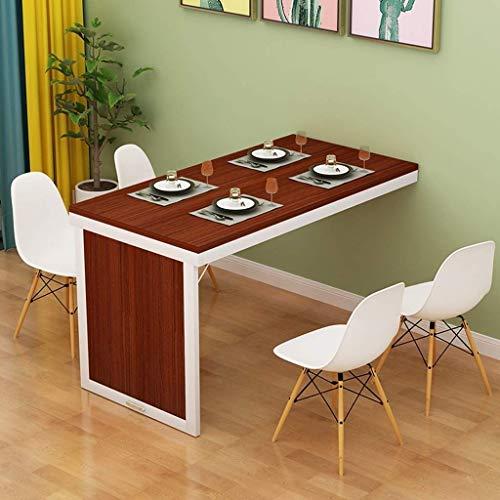 LIN HE SHOP Klappbarer Esstisch Ausklappbarer Wand-Cabrio-Tisch MDF-Multifunktions-Schreibtisch für zu Hause Wand-Schreibtisch Platzsparend Unsichtbarer Computertisch (Color : Brown)