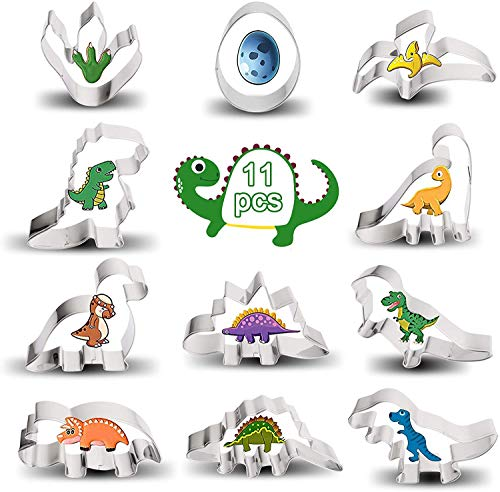 Moldes para galletas con forma de dinosaurio, 12 unidades