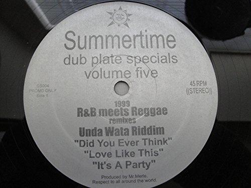 Summertime Dub Plate Specials Volume Five Vinyl 45rpm Record R & B meets Reggae remixes Unda Wata Riddim Did You Ever Think Love Like This It