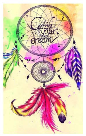 LILIANG Diy 5D Pushpin Painting Cross Stitch Kits Color Dream Catcher Mosaic Handmade Embroidery Home Decor Gifts (Color : Golden border, Size : 24 in)