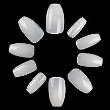 ECBASKET Coffin Nails Short Natural Fake Nails Acrylic Nail Tips Full Cover Ballerina Artificial Nails False Nails 500pcs 10 Size
