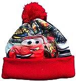 Coole-Fun-T-Shirts Cars Mütze Kinder Original Lightning McQueen Pudelmütze Wintermütze Jungen rot Gr. 52 und 54 cm (54)