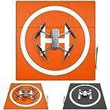 SYMIK LP690 Drone Landing Pad (3x3 fold) Double-Sided Waterproof 27 inch (69cm) Fast-Fold Helipad, Perfect for DJI Mavic 2 Pro, Zoom, Mavic 3, Compatible w/Mavic Mini 2, Mavic Air 2, Phantom Series