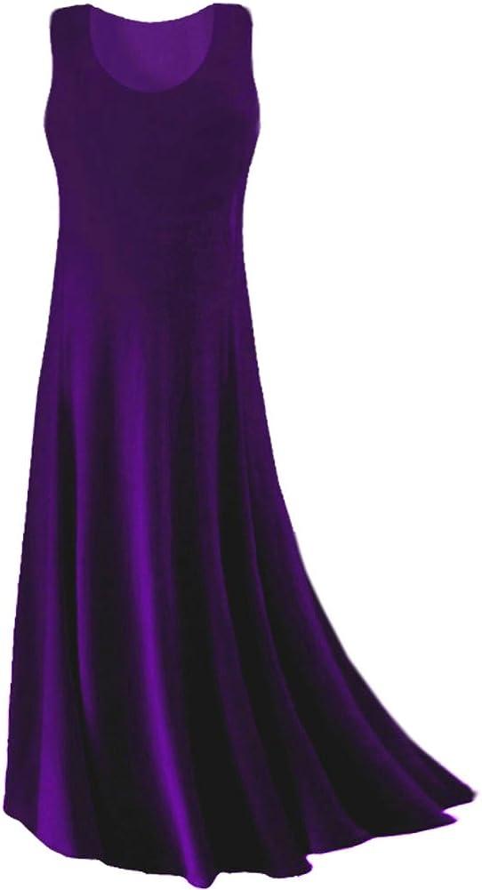 Purple Princess 100% quality warranty! Cut At the price Plus Size Maxi Tank Slinky Dress Supersize
