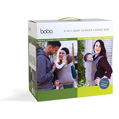 Boba Carrier 2 Combo Box - Pack de 2 portabebés, incluye Boba Wrap + Boba 4G