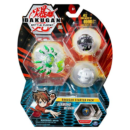Bakugan Starter Pack 3 Pack, Diamond Webam, Collectible Transforming Creatures, for Ages 6 & Up