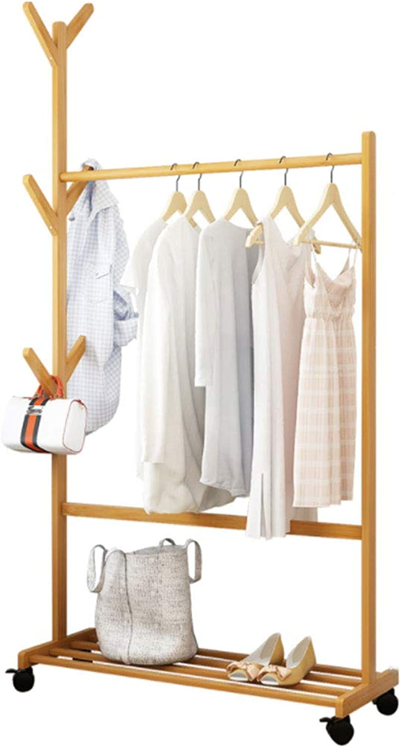 Hanger Floor Bedroom Coat Rack shoes Rack greenical Hanger Clothes Rack (color   Primary color, Size   80 cm)