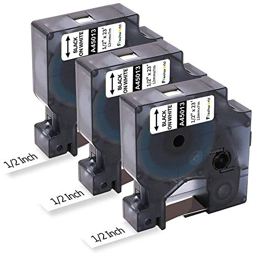Freshworld Compatible Tape Replacement for Dymo D1 Labels Tape 45013...
