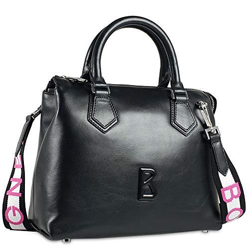 Bogner Damen Laax Frida Handbag Shz Henkeltasche, Schwarz (Black), 14x20x26 cm