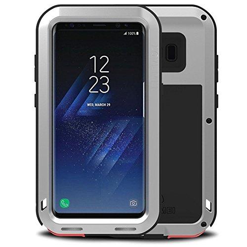 Funda para Galaxy S8 Plus, Mangix Resistente al Agua, a Prueba de Golpes, de Aluminio, Metal, súper antivibración, de Silicona, Totalmente protección para Samsung Galaxy S8 Plus 6,2 Pulgadas