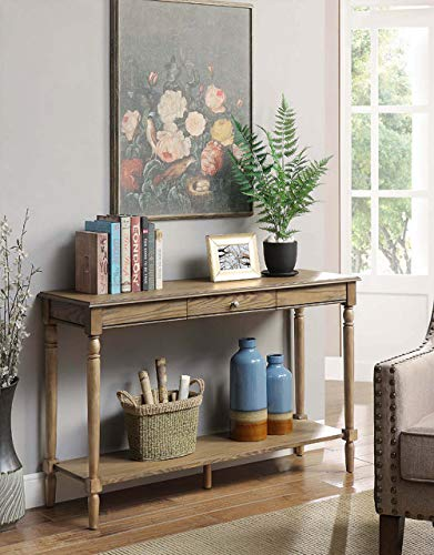 French Country Console Table in Driftwood