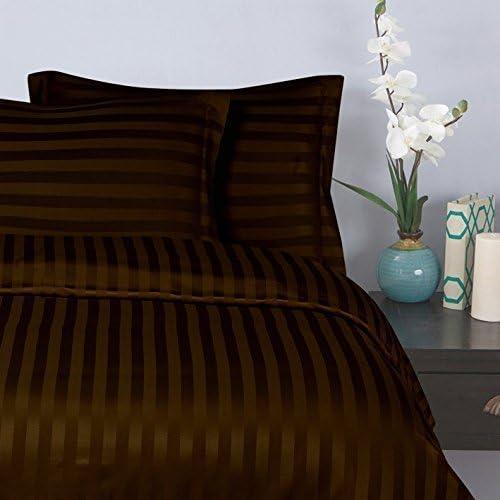 Rayures 135 X 190 Coton /égyptien Housse de couette 100 /% coton /égyptien 1000 fils au pouce carr/é AZ Collection Single Long Cm Red