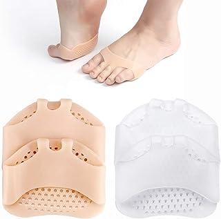 بالشتک پا - بالشتک های متاتارس - پد های جلوی پا ژل نرم سیلیکونی برای تسکین درد 2 جفت پوست و سفید