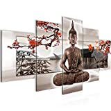Bilder Buddha Wandbild 200 x 100 cm Vlies - Leinwand Bild