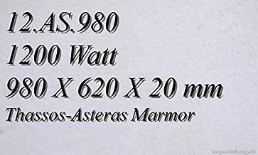 Calefacción por infrarrojos–Calefactor de infrarrojos eléctrico (mármol Magma Calefacción 1200W 12. AS.980