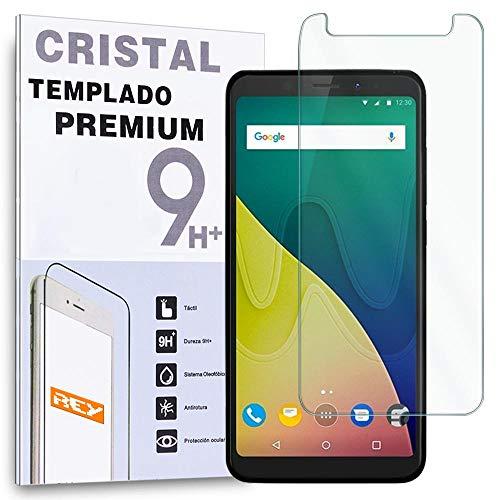 REY Protector de Pantalla para WIKO View XL, Cristal Vidrio Templado Premium
