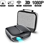 Mini Projector, ELEPHAS 2600 Lumen WiFi DLP 3D Portable Home Theater Projector compatible with iPhone Android Smartphone, Supports 1080P/ HDMI/ USB/ Youtube/ Koala Video Projector Black