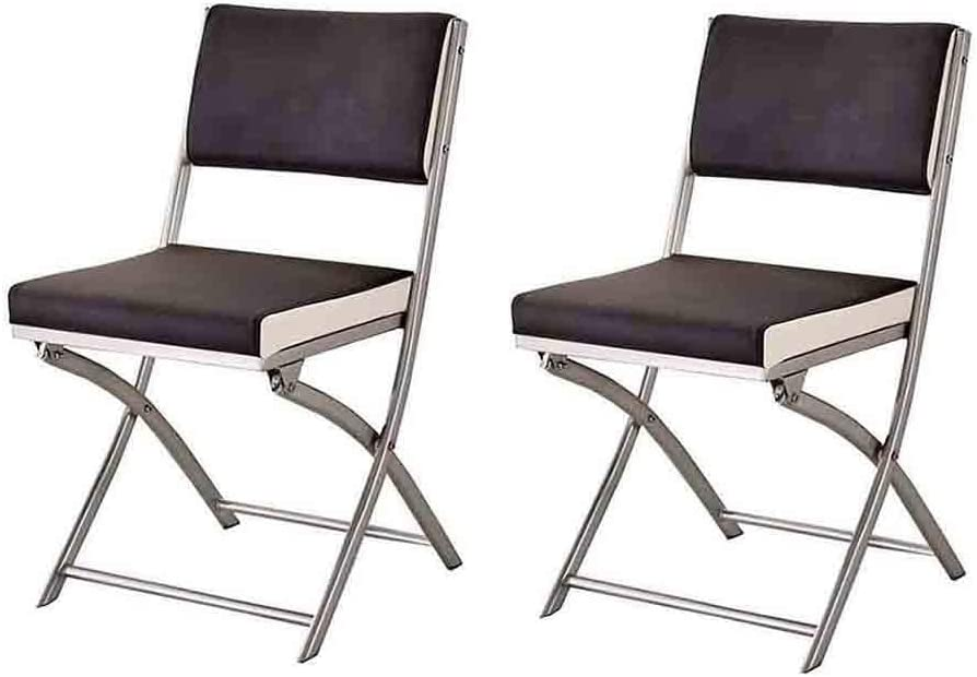 OFFicial store YCSD Folding Chair Portable Dining Home Cheap mail order specialty store Leather Padd Faux